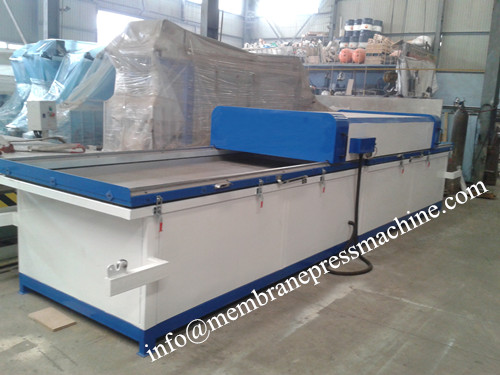 kitchen cabinet laminated pvc mdf door vacuum membrane press machine