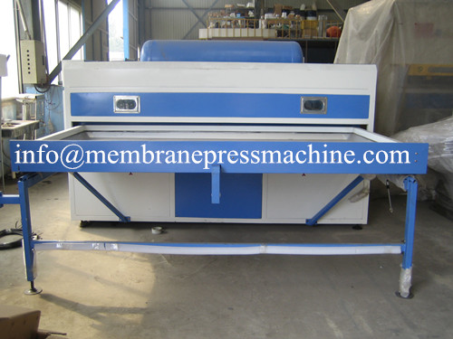 Veneer door making vacuum membrane press machine