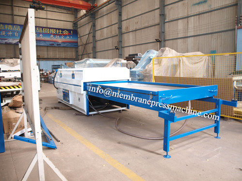 PVC vacuum membrane press machine in furniture