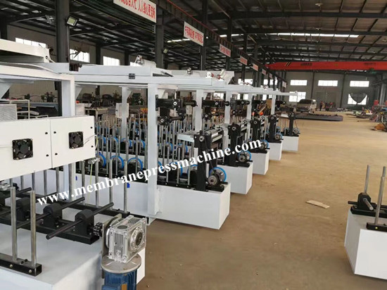 pvc door curtain profile wrapping machine