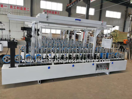 PVC garage door frame profile wrapping machine