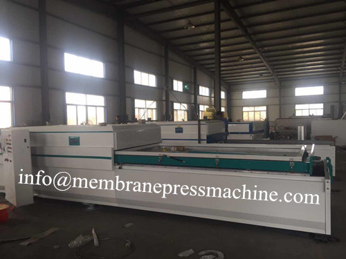 single pvc door vacuum membrane press machine