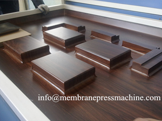 carved wood cabinet door panels vacuum membrane press machine