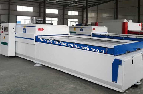 PVC door panel decoration vacuum membrane press machine