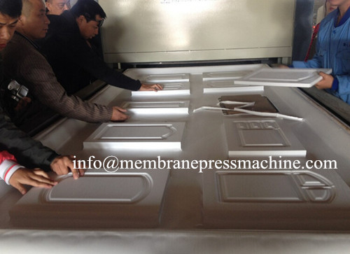 PVC wood door panels vacuum membrane press machine