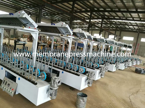carved door frames profile wrapping laminating machine