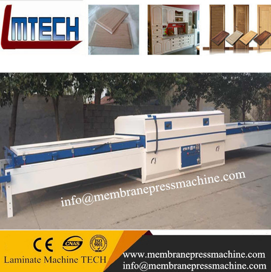 PVC film vacuum membrane press laminating machine