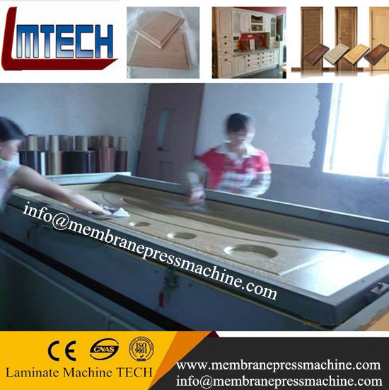 semi-automatic vacuum membrane press machine