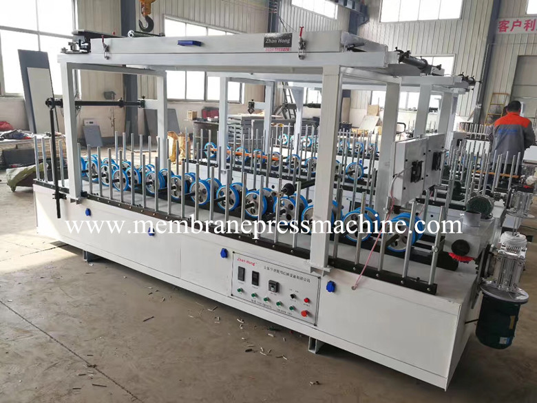Moulding Floor Decoration cold glue profile wrapping machine