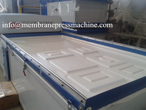 automatic type single station vacuum membrane press machine